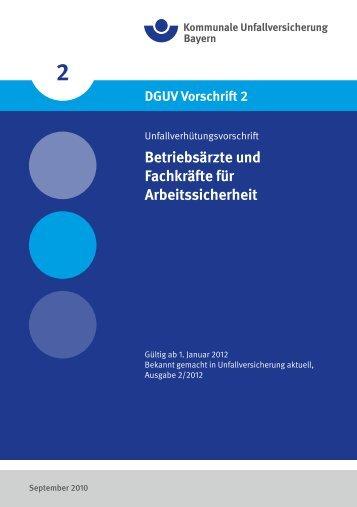 Betriebsärzte und Fachkräfte für Arbeitssicherheit - Kommunale ...