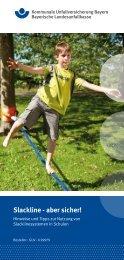 Slackline - aber sicher! - Kommunale Unfallversicherung Bayern