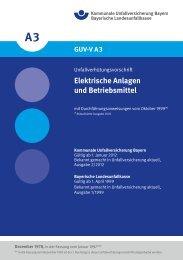 Elektrische Anlagen und Betriebsmittel - Kommunale ...