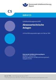 Abwassertechnische Anlagen - Kommunale Unfallversicherung ...