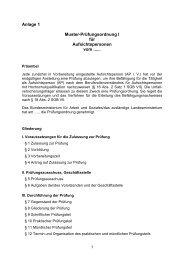 Anlage 1 Muster-Prüfungsordnung I für Aufsichtspersonen vom ......