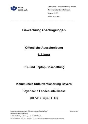 Bewerbungsbedingungen - Bayerische Landesunfallkasse