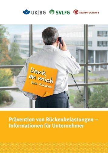Prävention von Rückenbelastungen – Informationen ... - Knappschaft