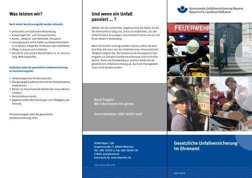 Gesetzliche Unfallversicherung im Ehrenamt - Kommunale ...