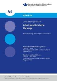 Arbeitsmedizinische Vorsorge - Kommunale Unfallversicherung ...