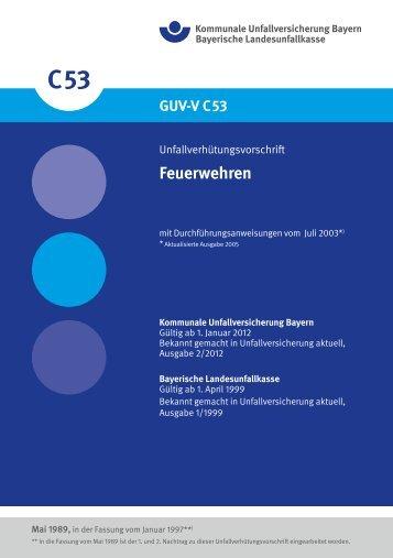 Feuerwehren - Kommunale Unfallversicherung Bayern