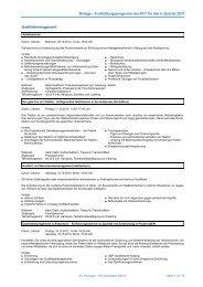 Beilage – Fortbildungsprogramm der KVT für das 4. Quartal 2013