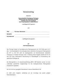 Honorarvertrag246 KB - Kassenärztliche Vereinigung Thüringen