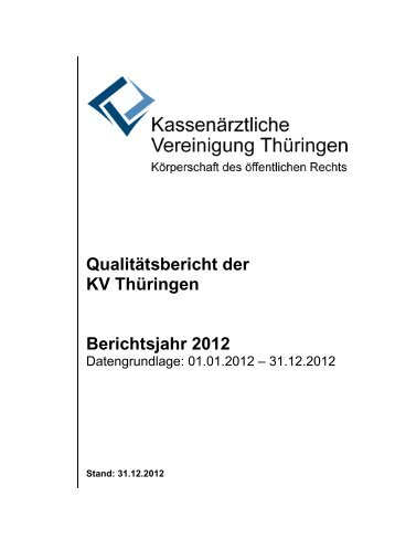 Qualitätssicherungsbericht 2012 (Statistik)181 KB