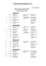 Freitag, 20. Mai - Kreisverband VIII- Esens eV