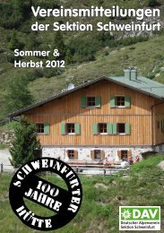 Schweinfurter Hütte - DAV Sektion Schweinfurt