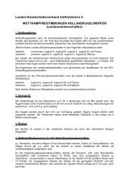 Hollandkugel Bedingungen LKV - Kreisverband VIII Esens eV