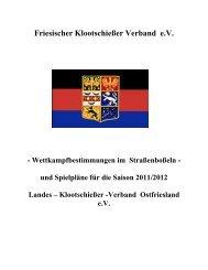 Wettkampfbestimmungen Strassenboßeln - Kreisverband VIII- Esens ...