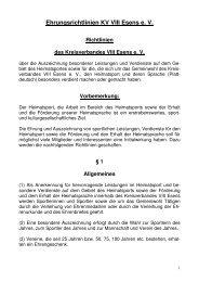 Ehrungsrichtlinien KV VIII Esens e. V. Richtlinien des ...