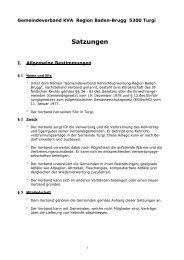 Gemeindeverband KVA Region Baden-Brugg, 5300 Turgi - KVA Turgi