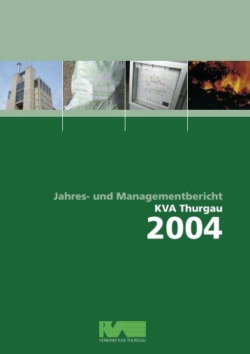 Ausgabe 2004 - beim Verband KVA Thurgau
