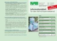 Informationsblatt für den Kehrichtsammeldienst - beim Verband KVA ...