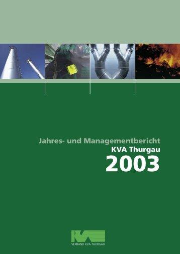 Ausgabe 2003 - beim Verband KVA Thurgau
