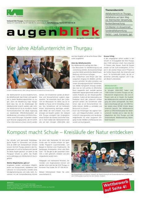 Ausgabe Herbst 2007 - beim Verband KVA Thurgau