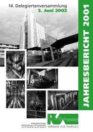 Ausgabe 2001 - beim Verband KVA Thurgau