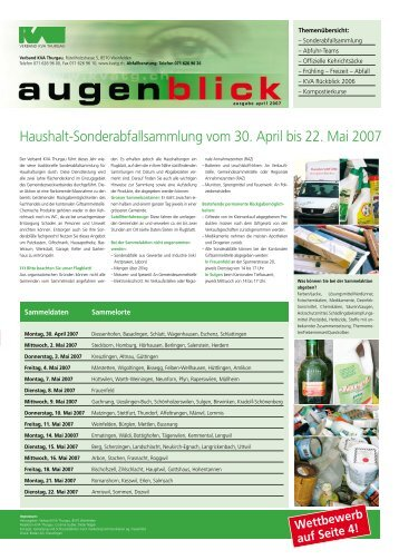 Ausgabe April 2007 - beim Verband KVA Thurgau