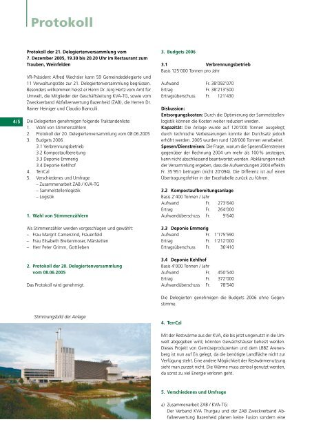 Ausgabe 2005 - beim Verband KVA Thurgau