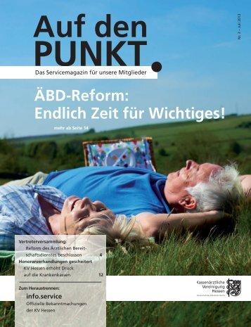 """""""Auf den Punkt""""-Ausgabe 3-2013 - Kassenärztliche Vereinigung ..."""