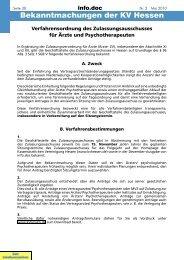 Bekanntmachungen der KV Hessen - Kassenärztliche Vereinigung ...