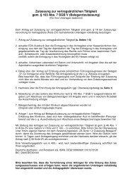 Zulassung zur vertragsärztlichen Tätigkeit gem. § 103 Abs. 7 SGB V ...