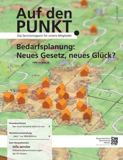 """""""Auf den Punkt""""-Ausgabe 2-2013 - Kassenärztliche Vereinigung ..."""