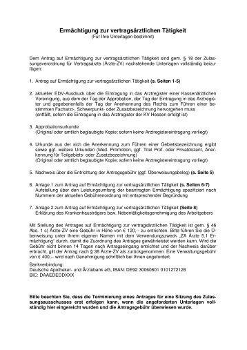 5.1_Ärzte_ Ermächtigung - Kassenärztliche Vereinigung Hessen