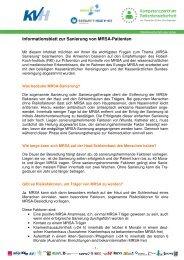Informationsblatt zur Sanierung von MRSA-Patienten - KVHH
