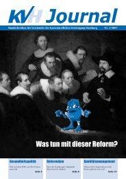 Was tun mit dieser Reform? - KV Hamburg