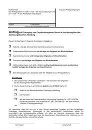 Antragauf Eintragung von Psychotherapeuten/-innen in das ... - KVHH