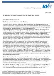 Erläuterung zur Honorarabrechnung für das 2. Quartal 2008