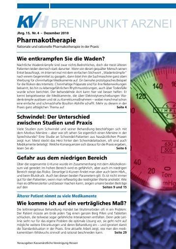 BRENNPUNKT ARZNEI - Kassenärztliche Vereinigung Hamburg