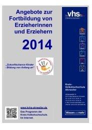 Download Seminarangebot für Erzieher/innen 2014 - KVHS Ahrweiler