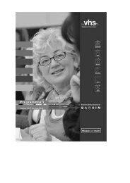 Anmeldungen - VHS Volkshochschule Bernau