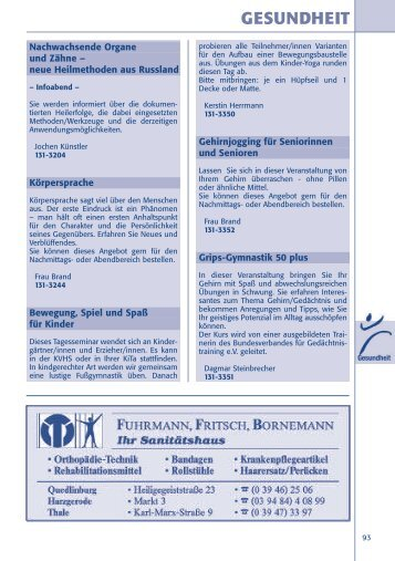 Spezial - Kreisvolkshochschule Harz
