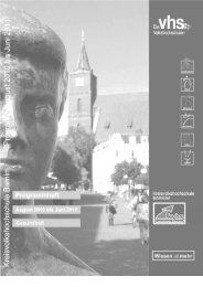Inhaltsverzeichnis Gesundheit - VHS Volkshochschule Bernau