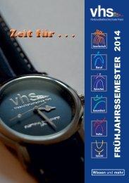 Programmheft Download - Kreisvolkshochschule Harz