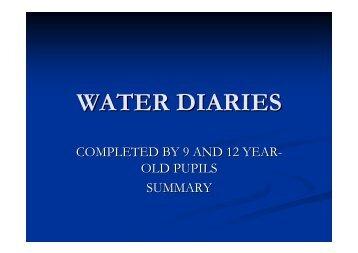WATER DIARIES