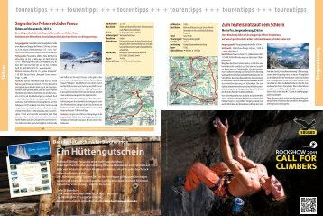 CALL FOR CLIMBERS - München und  Oberland