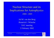 Nuclear Structure and its Implications for Astrophysics - KVI