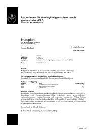 Utbildningsplan för kurs GV1000 - Stockholms universitet