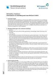 EFZ Kauffrau / Kaufmann Informationen zur Ausbildung ... - KV Luzern