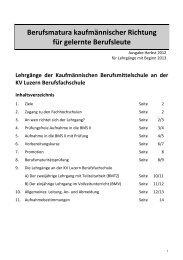 Infobroschüre Herbst 2012 für Beginn 2013.pdf - KV Luzern