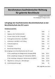 Infobroschüre Herbst 2011 - für Beginn 2012- - KV Luzern