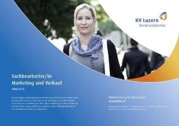 Detailbroschüre Sachbearbeiter/in Marketing und Verkauf - KV ...