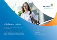 Detailbroschüre HR-Fachleute mit eidg. Fachausweis - KV ...